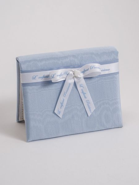 Baby 4x6 Blue Moire Album w/Bow