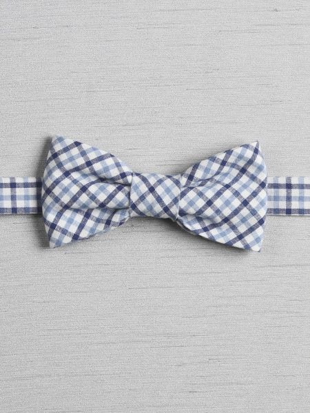 Checkered Pre-Tied Bow Tie