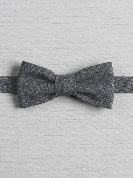 Chambray Pre-Tied Bow Tie