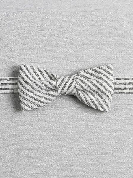 Seersucker Pre-tied Bow Tie