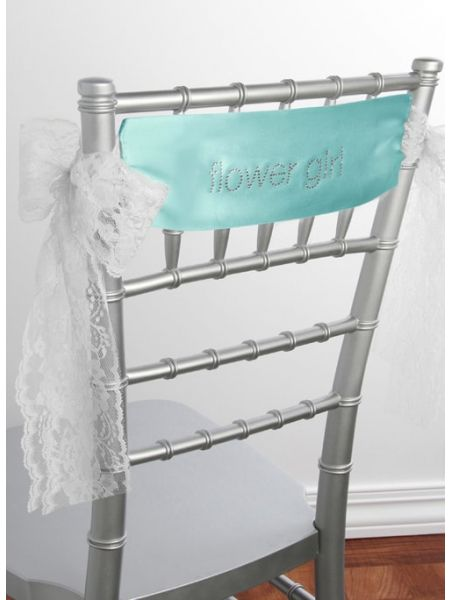 Flower Girl Satin Chair Sash