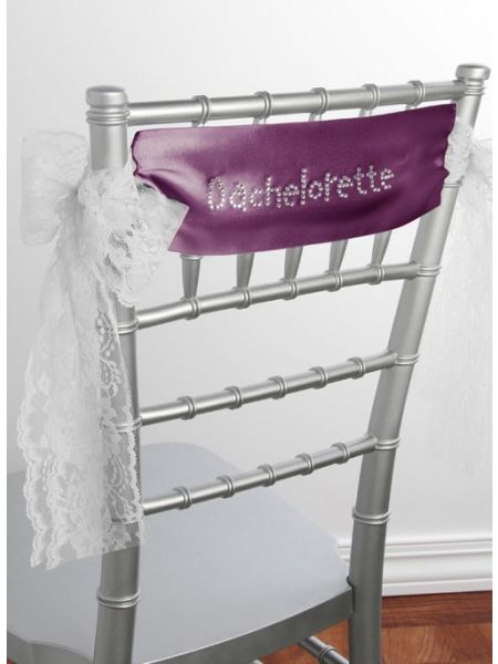 Bachelorette Satin Chair Sash