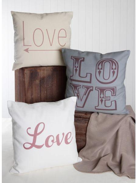 LOVE Canvas Decor Pillow
