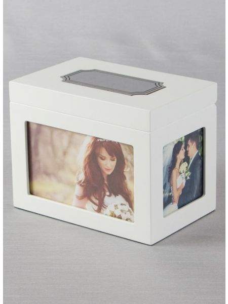 Guest Card Box, White