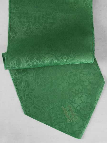 Single Initial Table Runner, Green