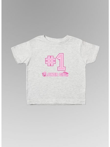 #1 Flower Girl Toodler Tee