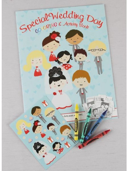 Wedding Day Coloring and Activity Book