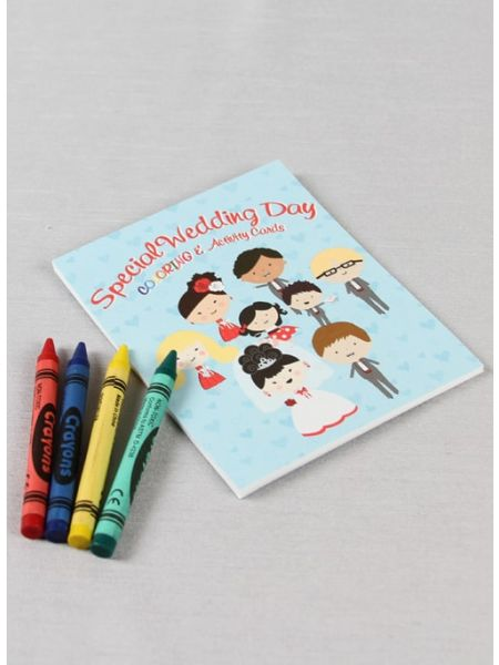 Wedding Day Coloring and Activity Cards