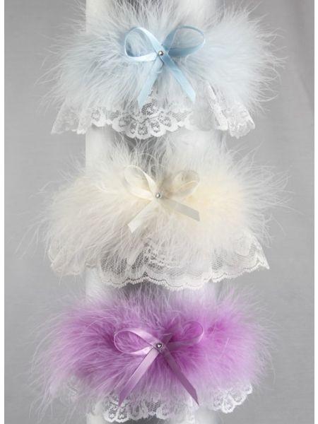 Fluffy Marabou Garter