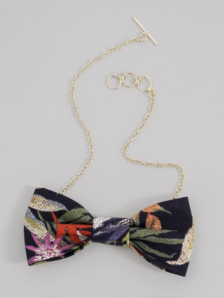Tropic Palm Bow Tie Necklace