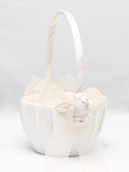Amour Flower Girl Basket_Ivory