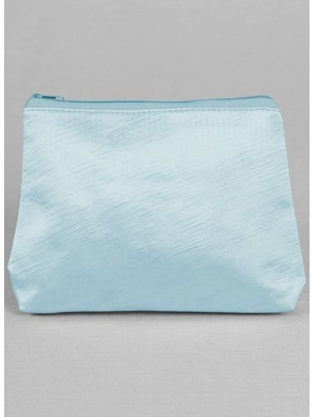 Novia Embroidered Cosmetic Bag-Blue