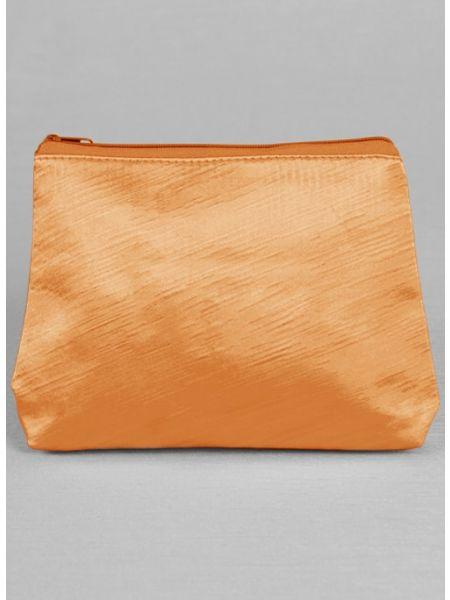 Novia Embroidered Cosmetic Bag-Orange