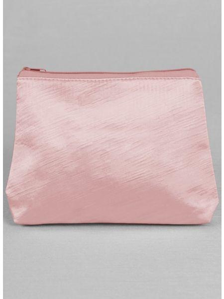 Novia Embroidered Cosmetic Bag-Pink