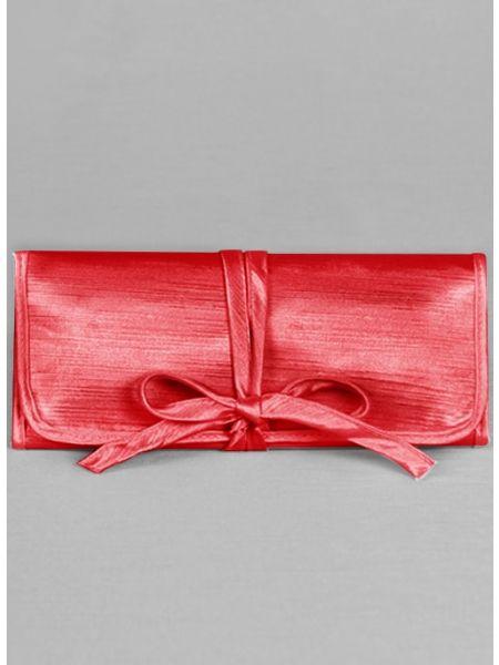 Mis Primera Comunion Embroidered Jewelry Roll-Red