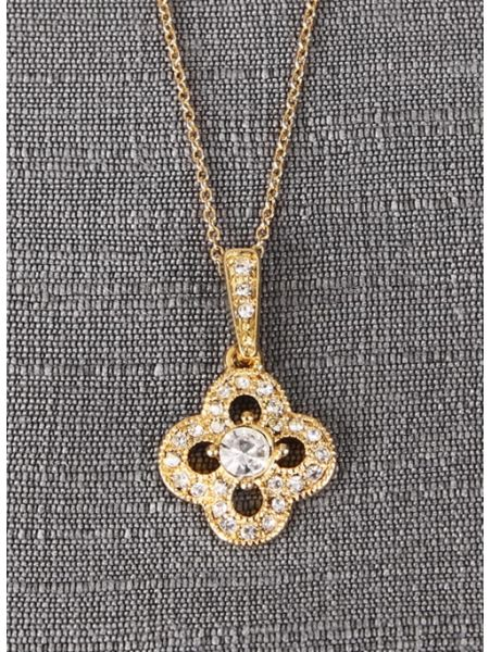 Crystal Clover Necklace Pendant