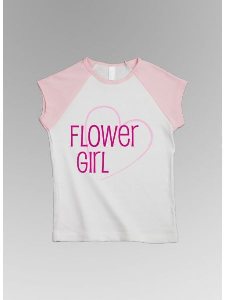 Flower Girl w/Heart Tee