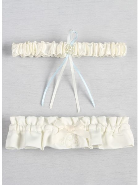 Embroidered Bridal Garter Set