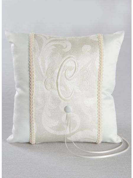 Brocade Monogram Ring Pillow