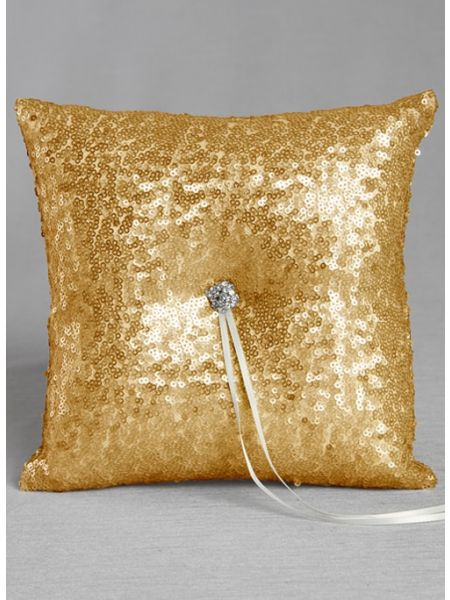 Elsa Matte Sequin Ring Pillow