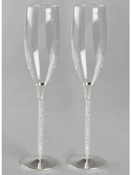 Crystals-Stemmed Toasting Flutes