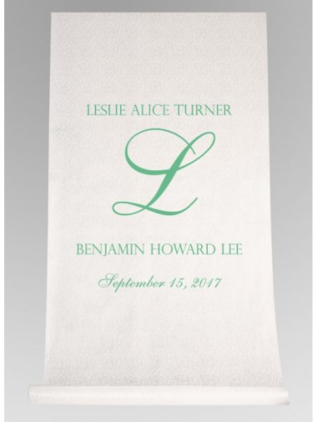 Formal Name Aisle Runner