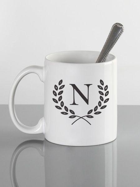 Initial w/Wreath Mug