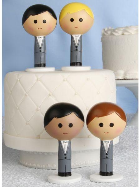 Groom Kokeshi Figurine