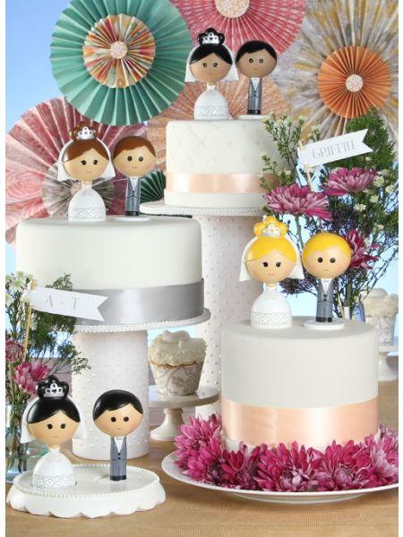 Bride & Groom Kokeshi Set