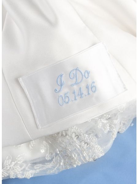 I Do Dress Label, White