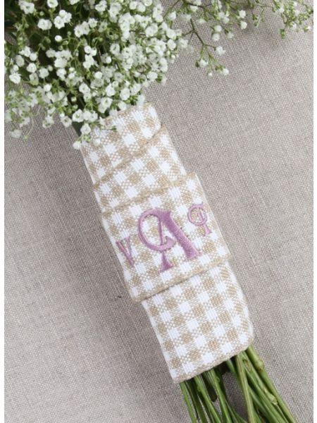 Gingham Bouquet Wrap