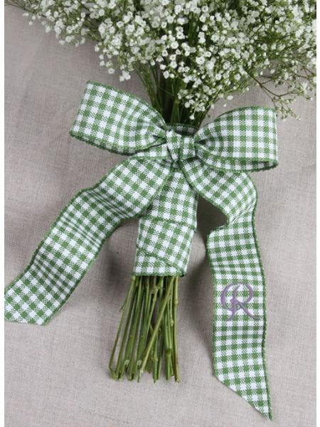 Gingham Bouquet Wrap with Tails