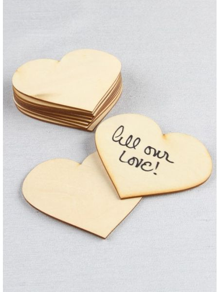 Wood Heart Guest Cards 10pk