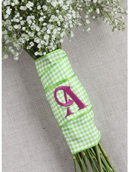 Country Check Bouquet Wrap