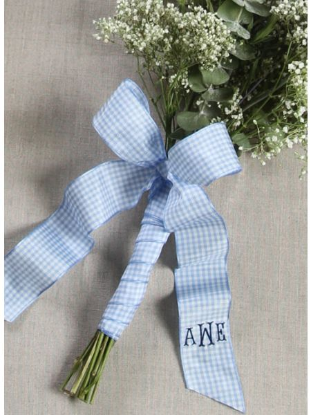 Country Check Bouquet Wrap with Tails
