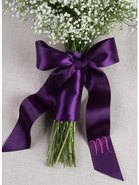 Satin  Bouquet Wrap w/Tails, Choose Color