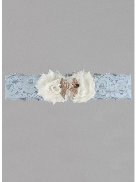 Anastasia Lace Garter with Rose Gold