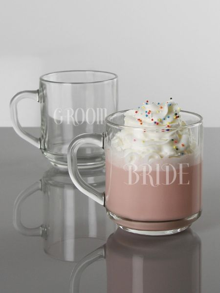 Bride & Groom Mug Set