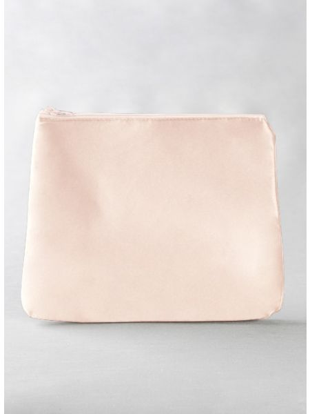 Novia Embroidered Cosmetic Bag-Champagne