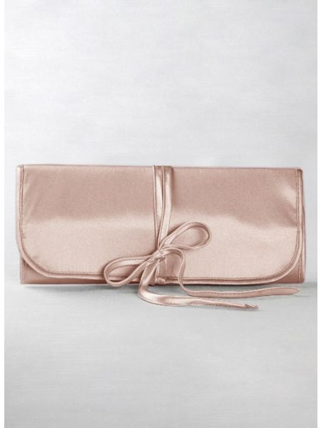 Novia Embroidered Jewelry Roll-Blush