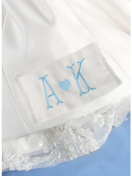 Initials & Heart Dress Label, Ivory