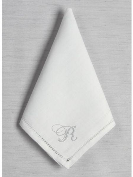 Single Initial Hemstich Handkerchief