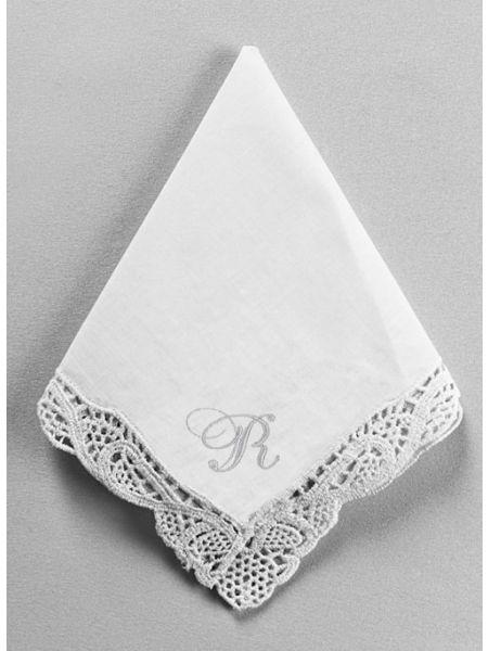 Single Initial Venise Handkerchief