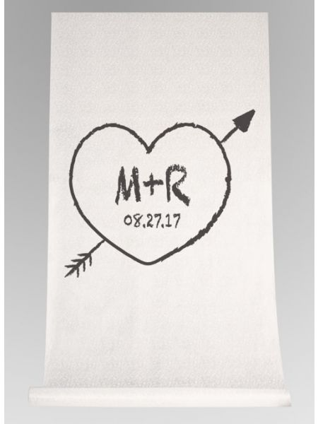 Heart & Arrow Aisle Runner