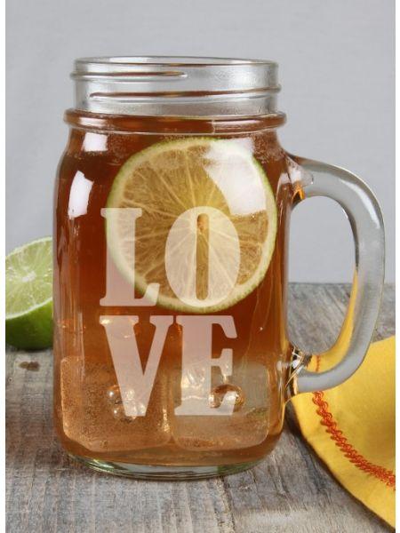 LOVE Mason Jar Mug