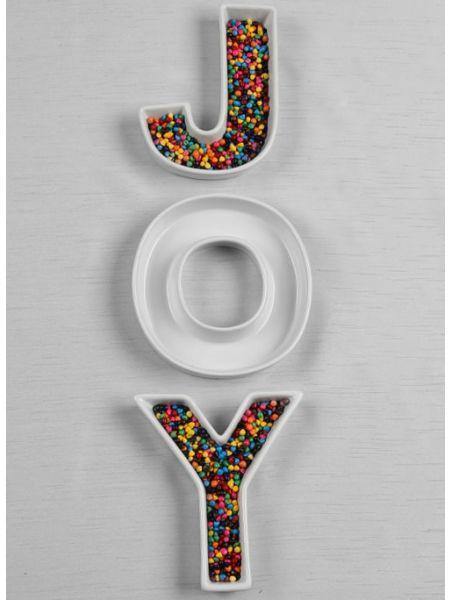 JOY Letter Dish Set
