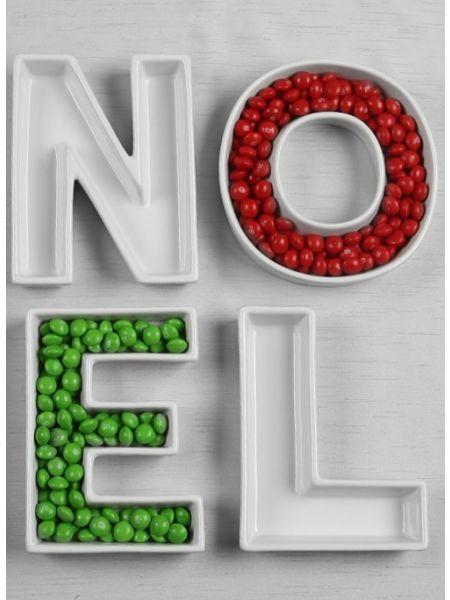 NOEL Letter Dish Set