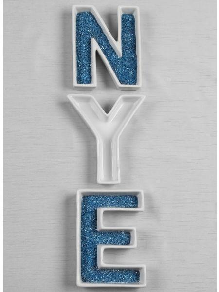 NYE Letter Dish Set