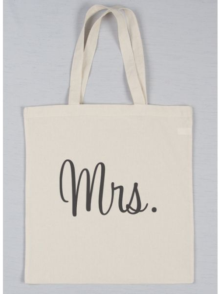 Mrs. Printed Tote Bag