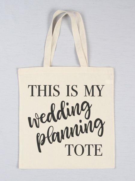 Wedding Planning Printed Tote Bag